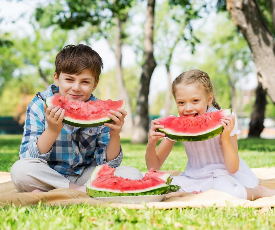Different by Design Social Media - Teoma Health - Kids Eating Watermelon