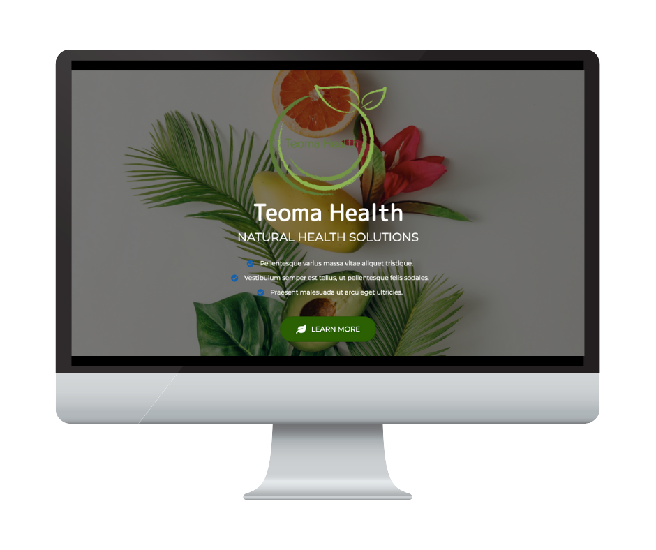 Different by Design Websites - Teoma Health 1