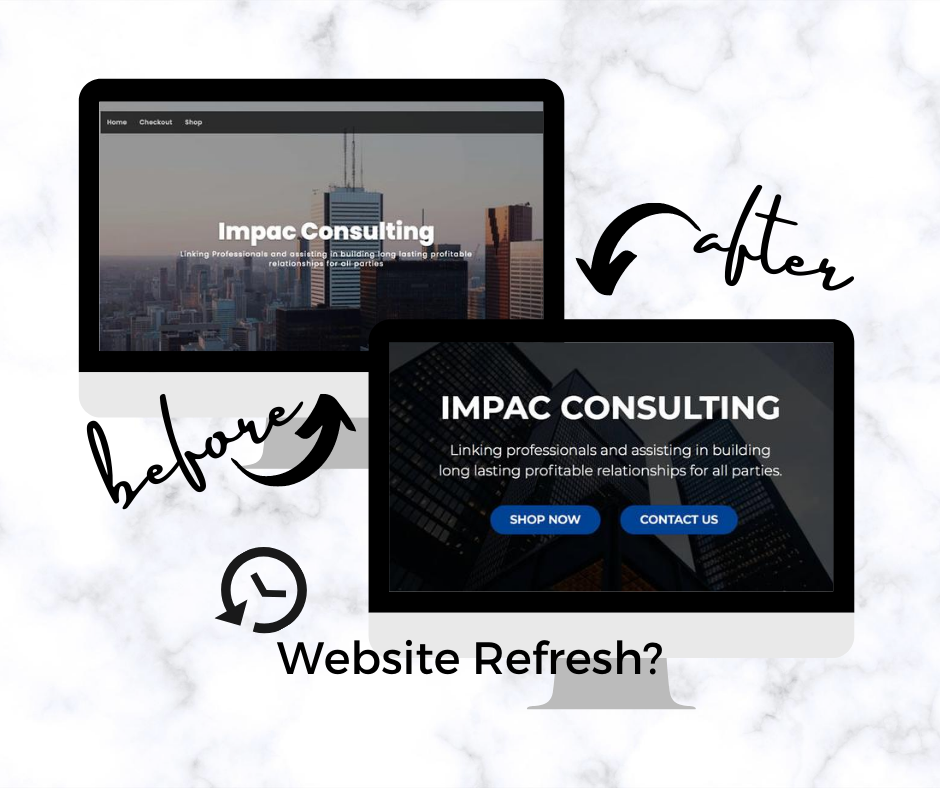 Different by Design Websites - Before After Impac Consulting