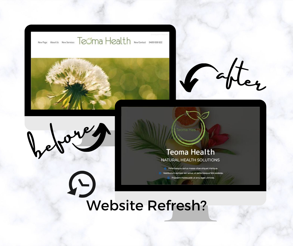 Different by Design Websites - Before After Teoma Health
